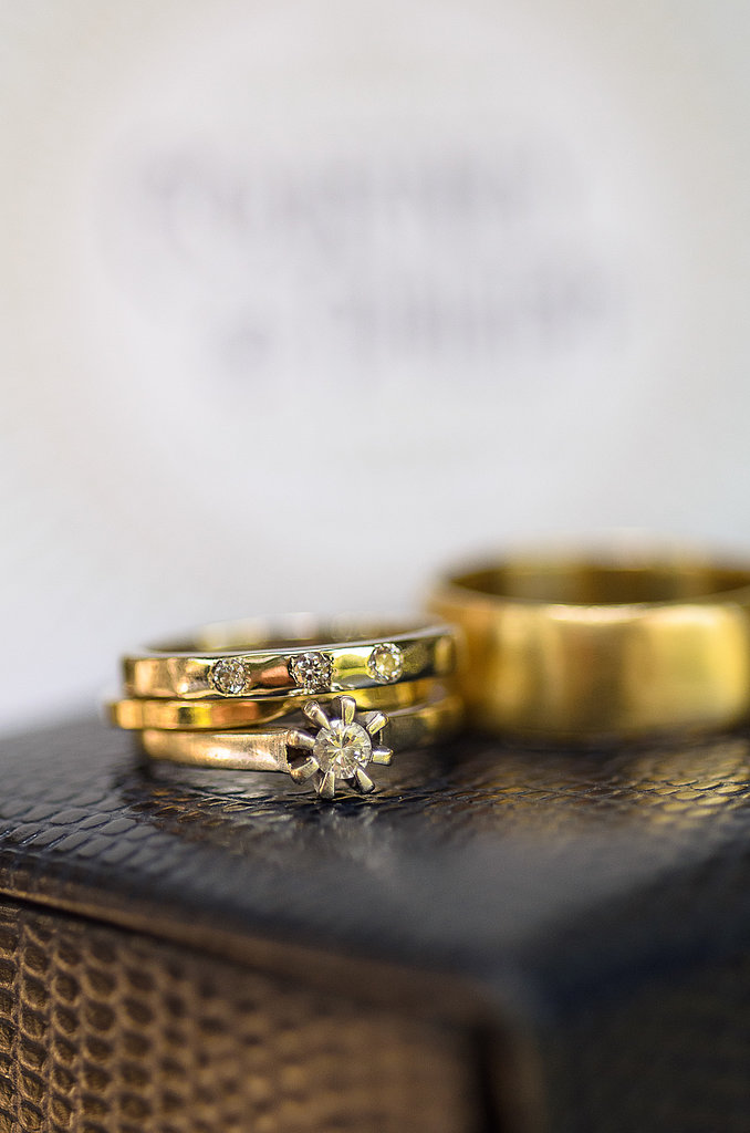 A close-up of the rings that perfectly depict the personality of the couple (and wedding, too!).  Source: Juliette Tinnus