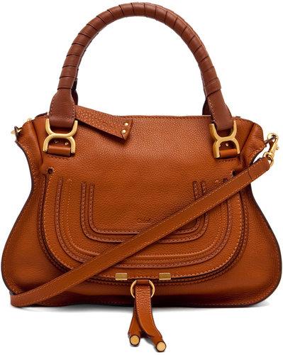Chloe Marcie Small Bag w/ Strap in Tan