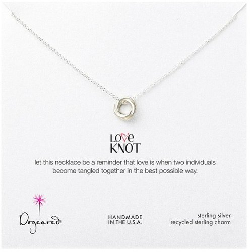 Dogeared love knot sterling silver necklace