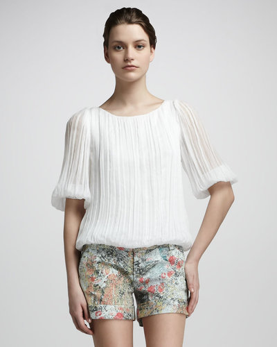 Alice + Olivia Gin Pleated Top