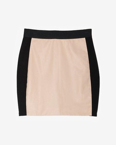 Mason Leather Inset Ponte Mini Skirt