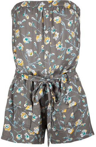FULL TILT Floral Belted Womens Romper