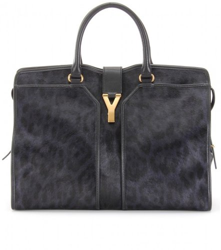 Saint Laurent LARGE CABAS CHYC EAST/WEST PRINTED HAIRCALF BAG