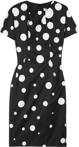 Valentino Roma Polka-dot shell dress