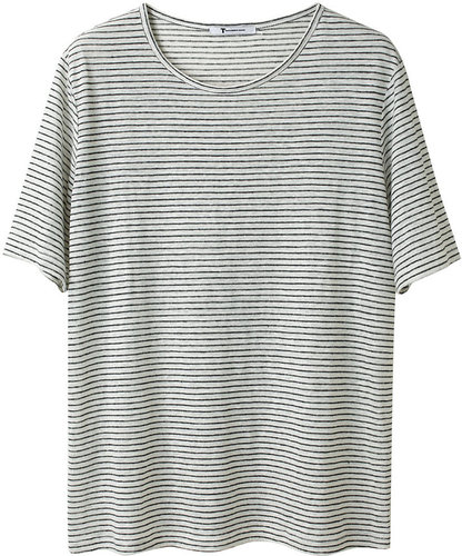 T by Alexander Wang / Striped Jersey Tee