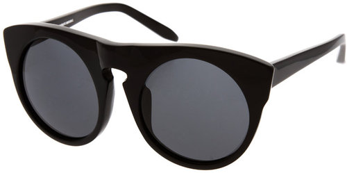 Alexander Wang Shiny Black And Solid Sunglasses
