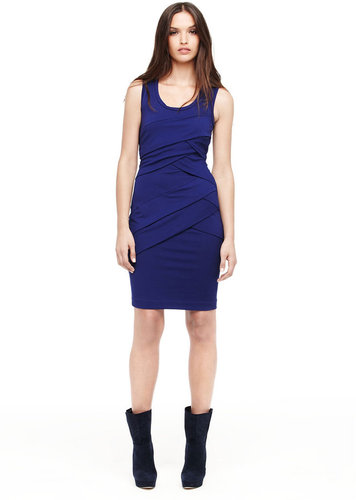 Jersey Pleat Dress
