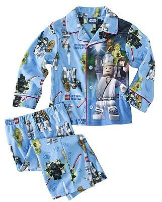 Star Wars Lego® Infant Toddler Boys Long-Sleeve Pajama Coat Set - Blue