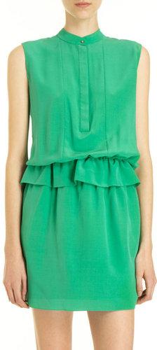 Chloé Sleeveless Ruffle Waist Dress