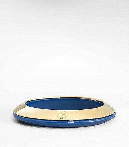 Tory Burch Logo Resin Two Tone Bracelet