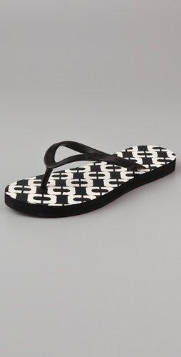 Diane Von Furstenberg Tairona Chain Link Flip Flops