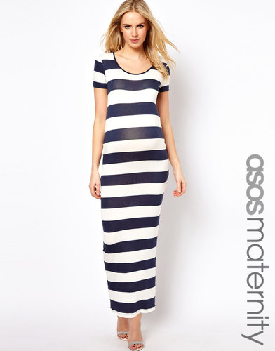 ASOS Maternity Exclusive Maxi Dress In Stripe