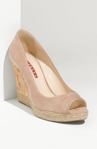 Prada Suede Wedge Pump
