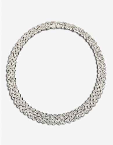 SWAROVSKI Diamanta Crystal Pavé Collar Necklace