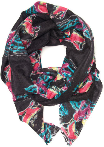 Yarnz New Frogs Print Scarf