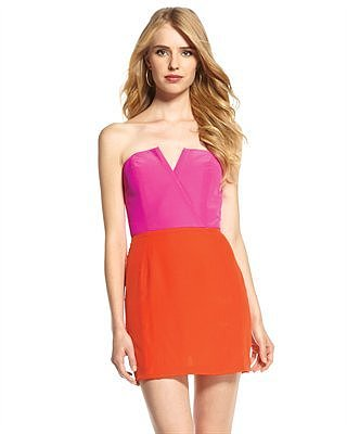 Naven Bombshell Colorblock Dress,Pink/Orange