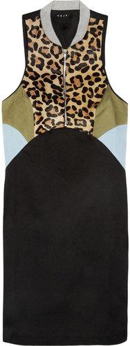 Ksubi Cotton and calf hair mini dress