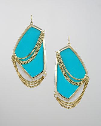 Kendra Scott Kavita Earrings, Turquoise