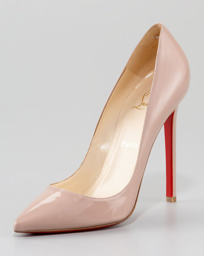 Christian Louboutin Pigalle Patent Pump, Nude