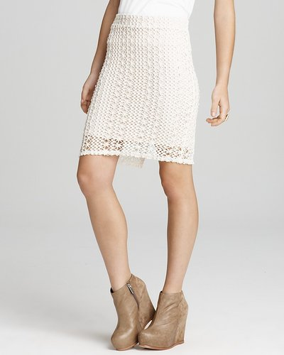 Free People Skirt - Star Lace Crochet Pencil
