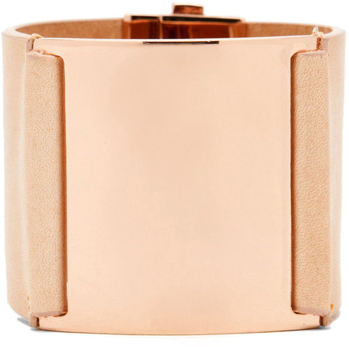 Maison Martin Margiela Snap Cuff in Pink Gold/Cream