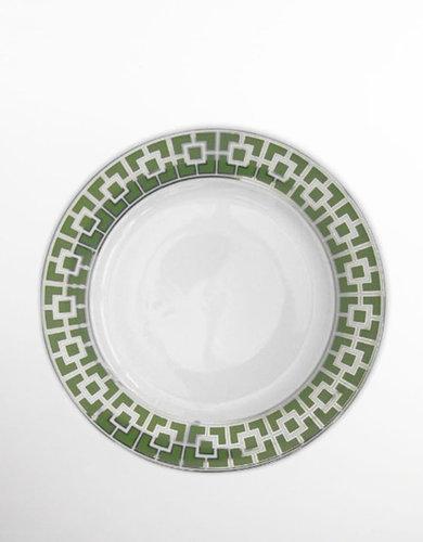 JONATHAN ADLER Green Nixon Dinner Plate