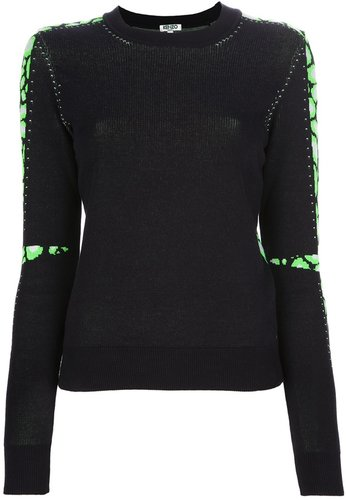 Kenzo panelled sweater