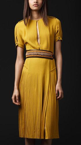 Slash Front Silk Dress