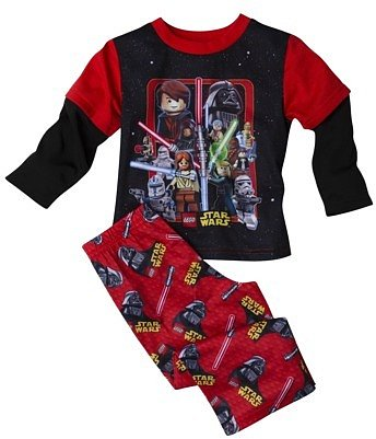 Star Wars Lego® Toddler Boys 2-Piece Pajama Set - Red/Black