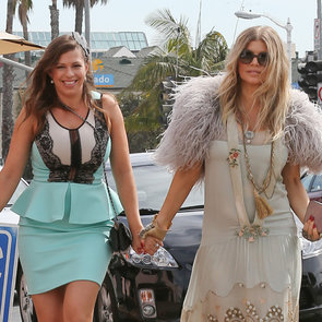 Pregnant Fergie Pictures at Her Sister's Bridal Shower in LA