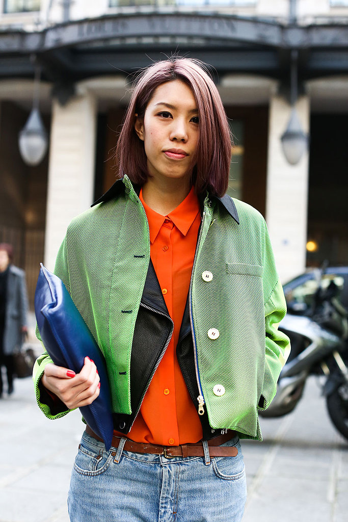 A grown-out bob in a cool color will add edge to any look.