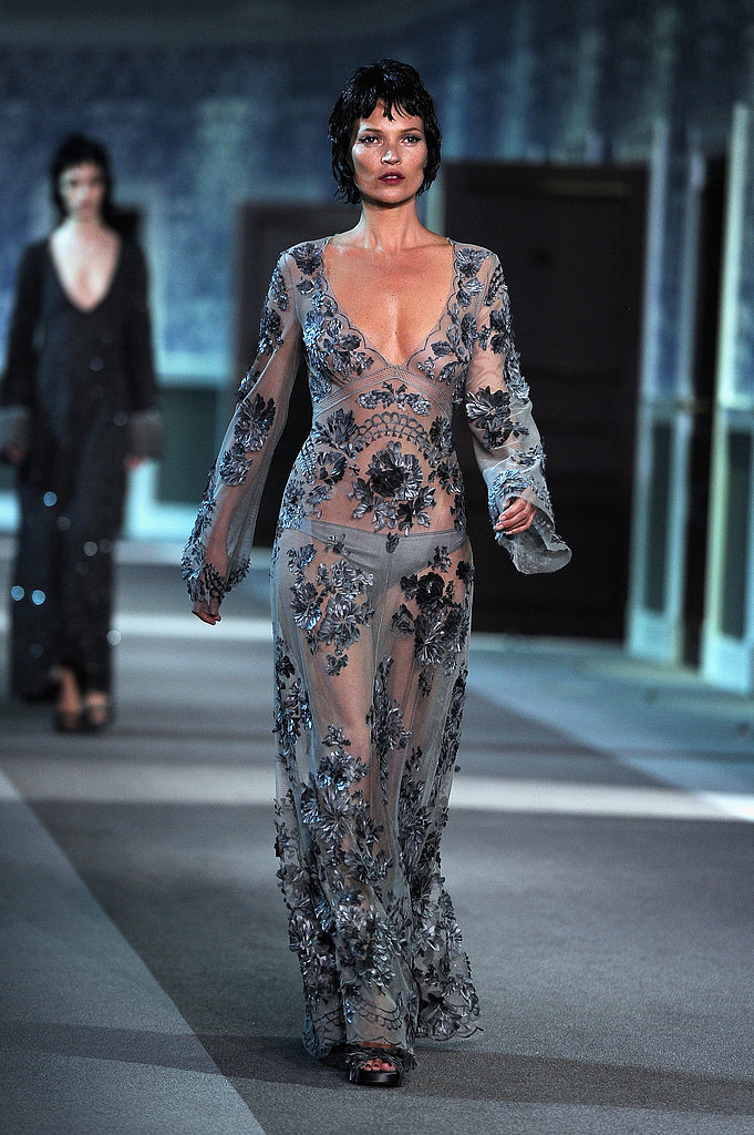 Kate Moss walked the runway at Louis Vuitton