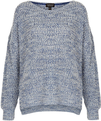 Knitted Tweedy Slouch Jumper