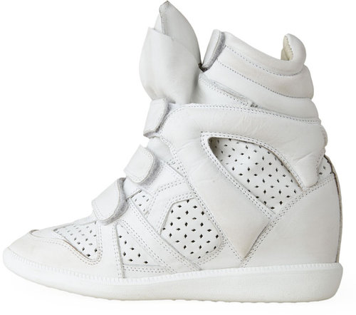 Isabel Marant / Brian Distressed Leather Sneaker