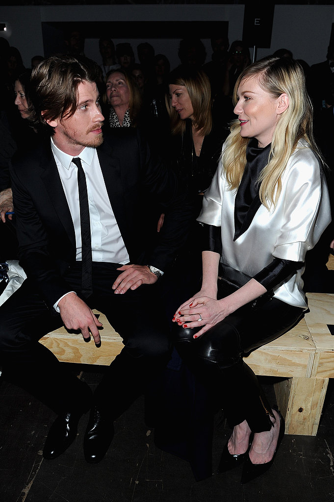 Garrett Hedlund and Kirsten Dunst attended Saint Laurent.