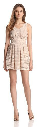 BCBGeneration Women's Pleated Full Skirt Dress