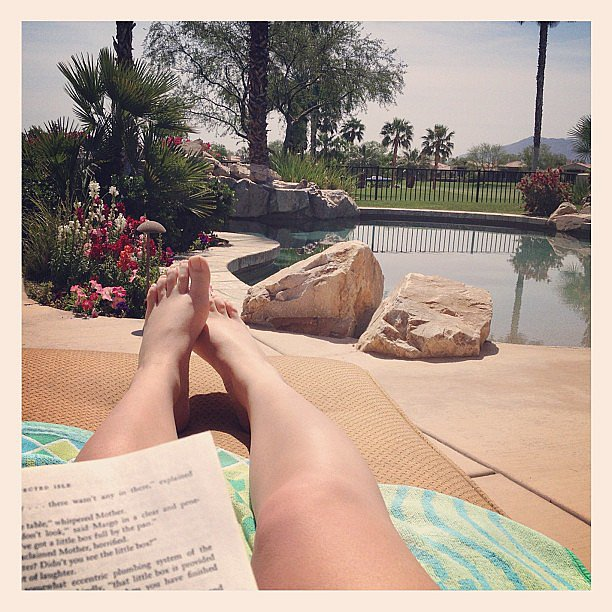 I got some much-needed R&R —reading and relaxation — by the pool.