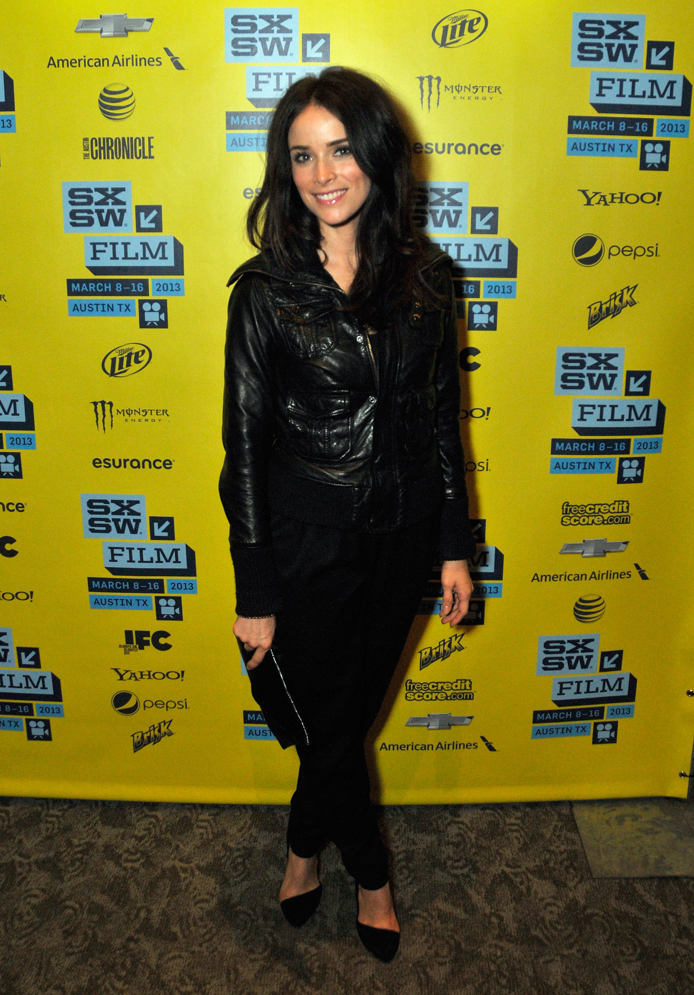 Abigail Spencer looked tough in head-to-toe black, especially thanks to her leather jacket, at the Kilimanjaro premiere at SXSW.