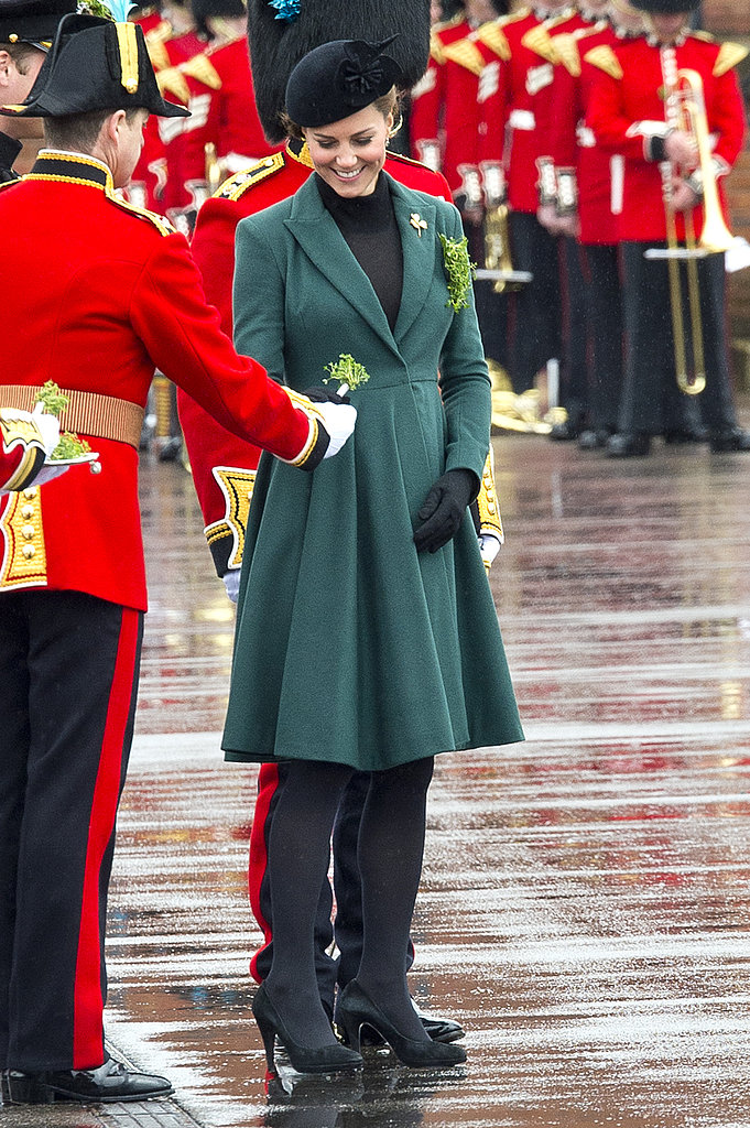 Kate Middleton attended a St. Patrick's Day parade in England.