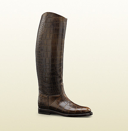 Women's '1921 Collection' Riding Boot With Gucci Crest Detail.