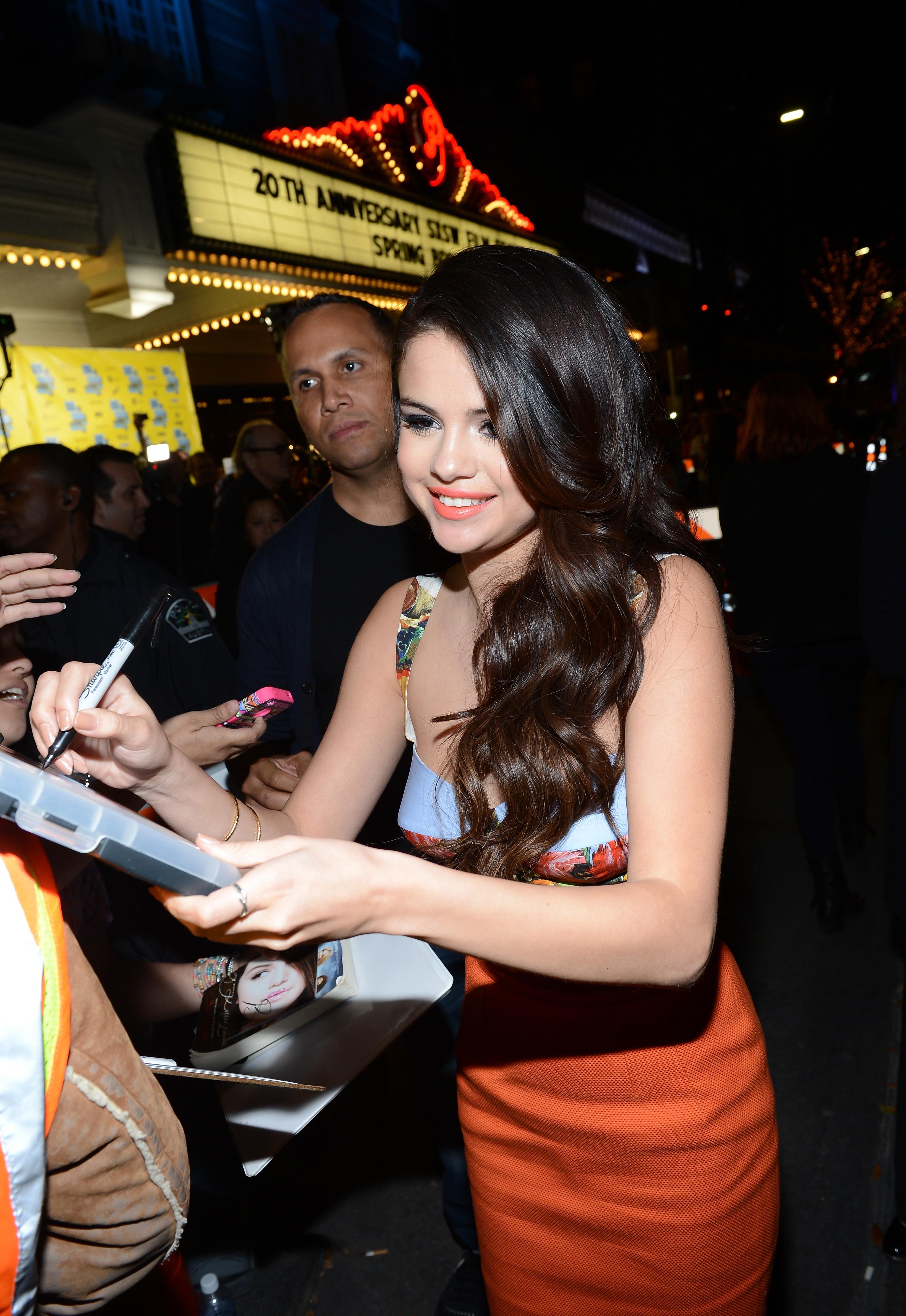 Selena Gomez signed autographs for fans at SXSW.