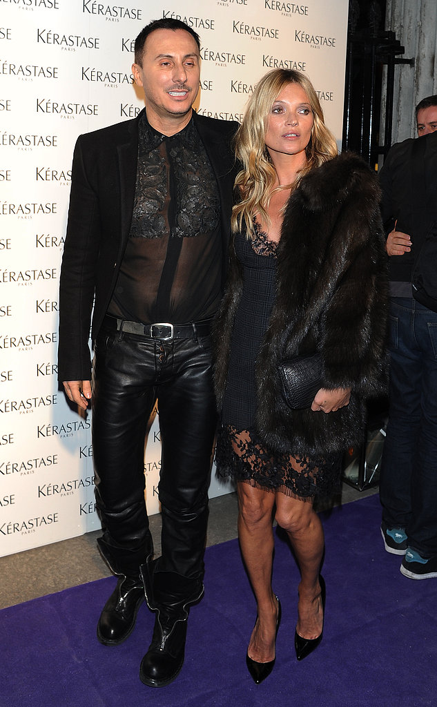 Kate Moss Makes a Sexy Entrance at the Kérastase Party With Her Stylist