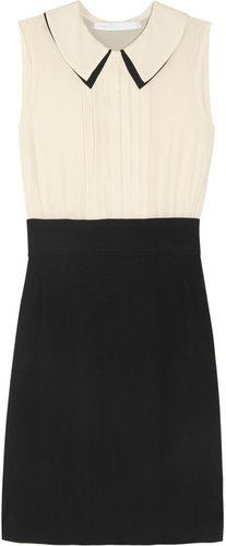 Victoria, Victoria Beckham Silk and crepe dress
