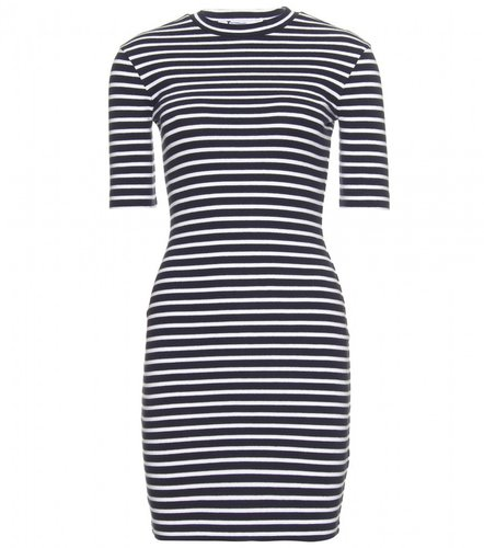 T by Alexander Wang STRIPED COMPACT DRESS