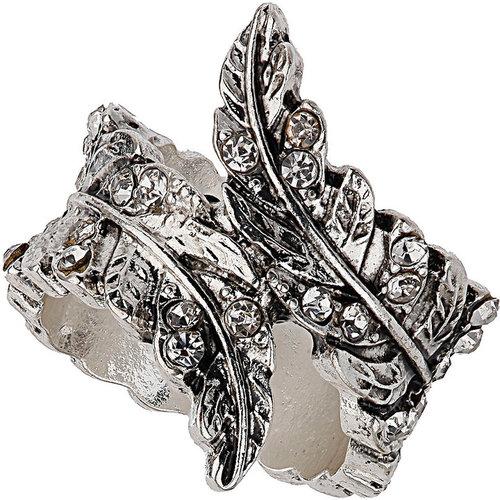 Sparkle Leaf Wrap Ring