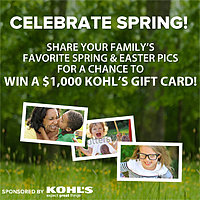 Show Us How Your Family Celebrates Spring—You Could Win a $1,000 Kohl's Gift Card
