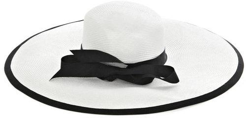 Emma Fielden Ribbon-trimmed floppy hat