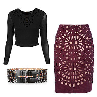 Fashion, Style & Shopping: Laser-Cut Skirts, Shirts, Shoes