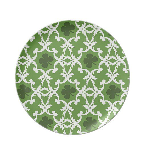 Use them for appetizers or dessert — either way these green shamrock plates ($26) will fit in perfectly with the theme of the day.