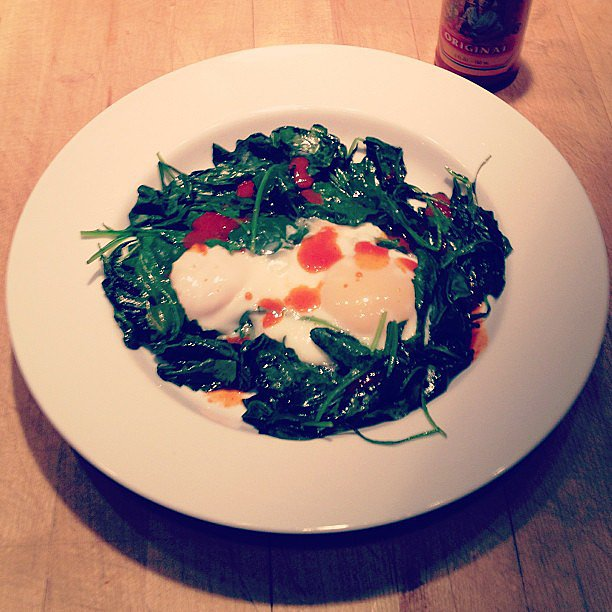 Kale and Egg Dish